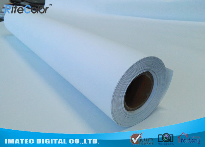 Untearable 240 Micron Synthetic Polypropylene Paper Rolls For Roll Up Dispaly