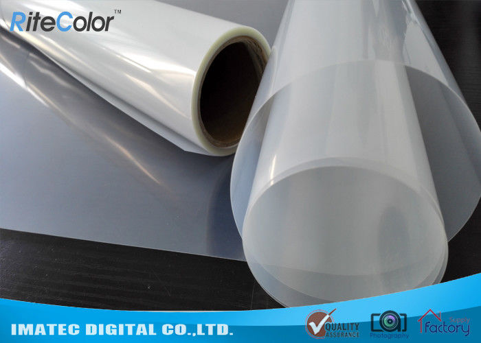 Inkjet Plate Making Clear PET Film , Resin Coated Waterproof Inkjet Film Screen Printing 100um Thickness