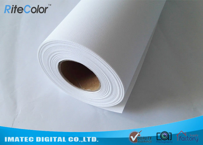 260 Gram Inkjet Matte Polyester Canvas Rolls , Pure Polyester Canvas for Pigment Ink Printing