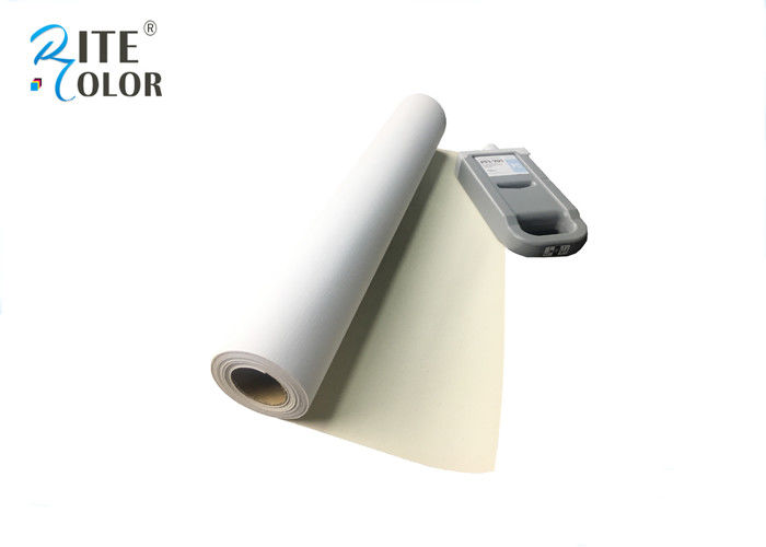 One Side Matte Polyester Canvas Rolls 220gsm Extra Long Inkjet Canvas Rolls